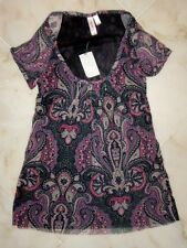 NWT Sweet Pea Stacy Frati MARLEY BERRY Scoopneck Top LARGE