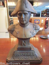 "Courvoisier Cognac Napoleon advertising bust hard plastic back bar, 14 ""[hallart"