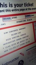 *SOLD* Blink 182 Standing Ticket - Cardiff 3/7/17