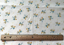 """BABY print flannel fabric YELLOW DUCK New unwashed 42"""" x 48"""" #61"""