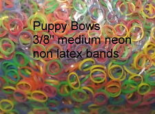 Puppy Bows ~ DOLL HAIR rubber BANDS craft multi color ELASTIC~USA MADE SOLD