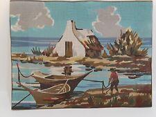 RBC Needlecraft Tapestry Kit from France La Cabane De Pechur hand painted inst.