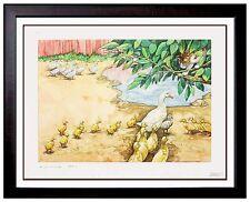 Michael Hampshire UGLY DUCKLING ORIGINAL Hans Andersen ILLUSTRATION PAINTING ART