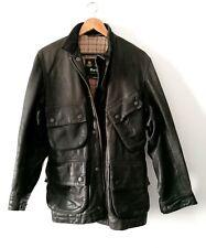 Barbour international leather Classic Biker Jacket Size small/medium rare!