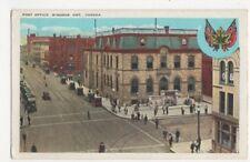 Canada, Post Office, Windsor, Ont. Heraldic Postcard, B171