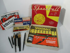 Speedball Art Pen Lettering Sets Nibs Booklets Drawing Calligraphy Lot of 13+psc