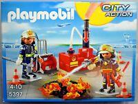 Playmobil City Action Feuerwehr 5397 Brandeinsatz mit Löschpumpe Neu und OVP