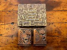 Vtg Lot Of 3 Copperwood Print Blocks Kelloggs Cereal Advertising Letterpress