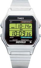 Timex T78587 Herren-Armbanduhr Chronmograph Digital Quarz Edelstahl Silber 34 mm