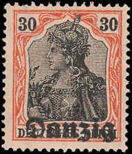 Scott # 5 - 1920 - ' Germania ' Ovpt. Danzig; Light Salmon Paper