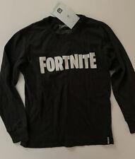 Fortnite Boys Long Sleeve Shirt Size Small Medium 8 10 12 Black White Novelty