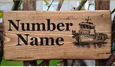 Personalised Boat House Sign Nameplate House Number Door Porch Fishing Ship Gift