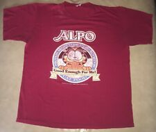 Movie TV Prop Garfield 1978 T-Shirt ORIGINAL SINGLE STITCH 50/50 Red Mens Sz L