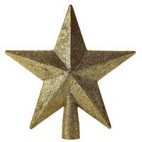 Christmas Tree Sparkle Star Topper Ornament Gold  Home Party Xmas Decor Top 20cm