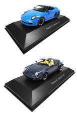 Lot de 2 Porsche 911 Speedster 1/43 Voiture miniature Diecast Model Car LP1