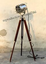 Modern Hollywood Searchlight With Tripod Nautical Floor Lamp E 27 LED Bulb Free
