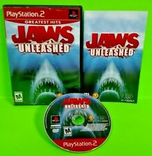Jaws Unleashed - PS2 Playstation 2 -  Rare Game Tested Complete Play as JAWS !!!