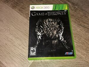 Game of Thrones Xbox 360 w/Case Authentic