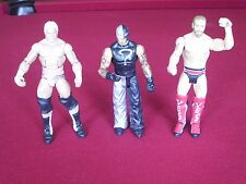 Used Mattel Lot Of 3 Wrestling Figures in Good Condition