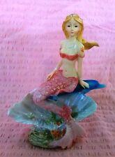 Mermaid Figurine Statue Seaside Pool Ornament  Beach Ocean Magic Fantasy Decor