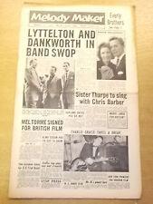 MELODY MAKER 1957 AUGUST 17 CHRIS BARBER MEL TORME JAZZ BIG BAND SWING