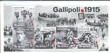 Australia-Gallipoli Min Hoja Anzac-militar de abril de 2015 Fine Used-Cto