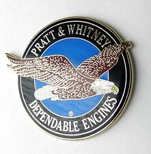 PRATT AND WHITNEY ENGINE ENGINES AIRCRAFT AVIATION LARGE LAPEL PIN BADGE 1.5 IN