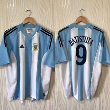 ARGENTINA 2002 HOME FOOTBALL SHIRT SOCCER JERSEY ADIDAS #9 BATISTUTA