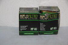 HIFLO FILTRO  2 Filtres a Huile Scooter HF183 Piaggio Peugeot 125 Looxor Malagut