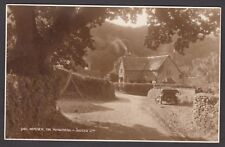 Postcard Horner near Minehead Somerset with motor car YA 5459 RP by Judges 9411