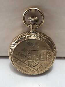 1889 Elgin 14k Solid Gold Hunting Case Pocket Watch