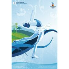 Original Official Vancouver 2010 Winter Olympic Figure Skate Skating Poster