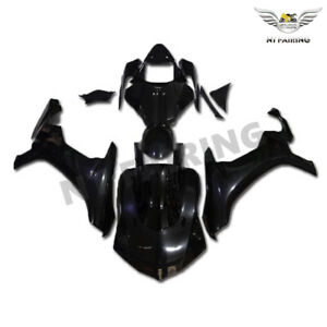 UK Injection Glossy Black Fairing Fit for Yamaha 2015-2017 YZF R1 Plastic o007