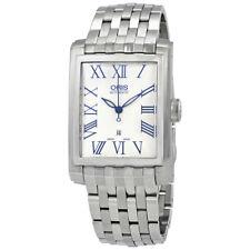 Oris Rectangular Date Automatic Silver Dial Mens Watch 01 561 7657 4071-07 8 21