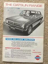 Datsun Nissan c1970 uk Market Foldout Sales Brochure 1200 1400 1600 1800 2000