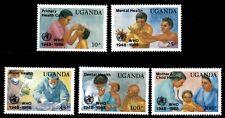 Uganda 1988 - WORLD HEALTH ORGANIZATION - Set of 5 (Scott #642-6) - MNH