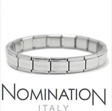 Nomination bracelet acier 18 links original starter charm with official packagin