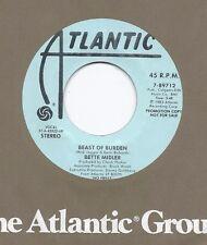 BETTE MIDLER * 45 * Beast Of Burden * 1983 * UNPLAYED DJ PROMO * Rolling Stones