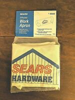 Vintage SEARS 2 Pocket Work Apron Canvas for Tools Nails Hardware NIP (Sealed)
