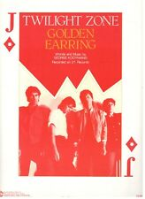 "GOLDEN EARRING ""TWILIGHT ZONE"" SHEET MUSIC-PIANO/VOCAL/GUITAR/CHORDS-1983-NEW!!"