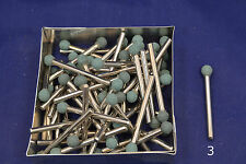 """25 - 1/8"""" Small Green Ball Grind Stone 1/8 shank bit Dremel's or Rotary Tools"""
