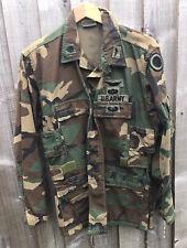 US Army aircrew combat coat  jacket , great aircrew badges