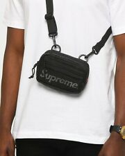 SUPREME Small Shoulder Crossbody Bag Black SS20 Logo