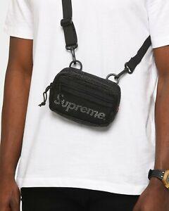SUPREME Small Shoulder Crossbody Bag Black SS20 Logo