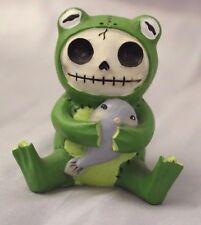 Furry Bones  Green Froggie Frog Skeleton Animal Figurine Free S&H