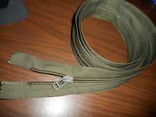 MILITARY SURPLUS, DOUBLE PULL ZIPPER 72 IN SLEEPING BAG, TENT, TARP  ARMY