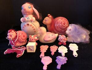 Keypers Tonka Toys 1980s Lot Joyful Rabbit Fancy Snail Keys, Brushes More RARE