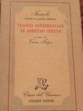 UGO FOSCOLO - IL VIAGGIO SENTIMENTALE DI LORENZO STERNE 1944