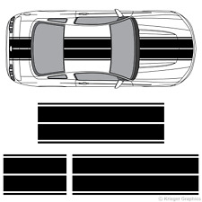 Dual Rally Racing Stripes 3m Vinyl Double Stripe Decals For Ford Mustang