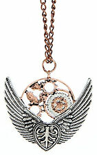 "Wings Gears ""Steampunk"" Necklace Style"